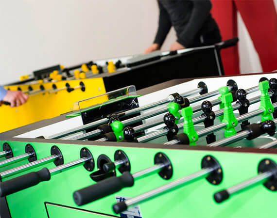 Need a break? We have table football and billiards
