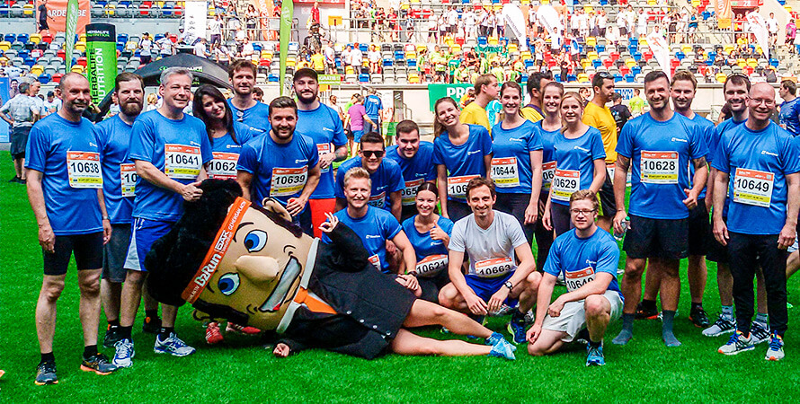 Starting together at the B2Run company run in Düsseldorf
