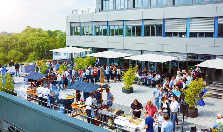 Product release launch-party on our sunny rooftop terrace