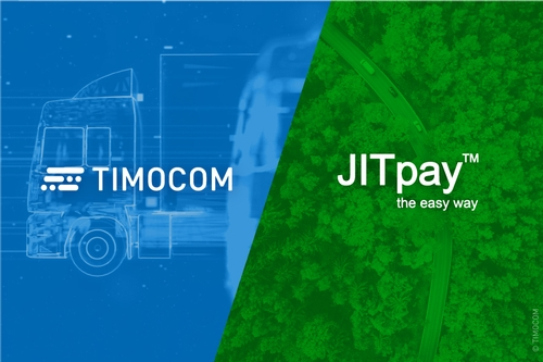 The image shows the logos of TIMOCOM and JITpay.