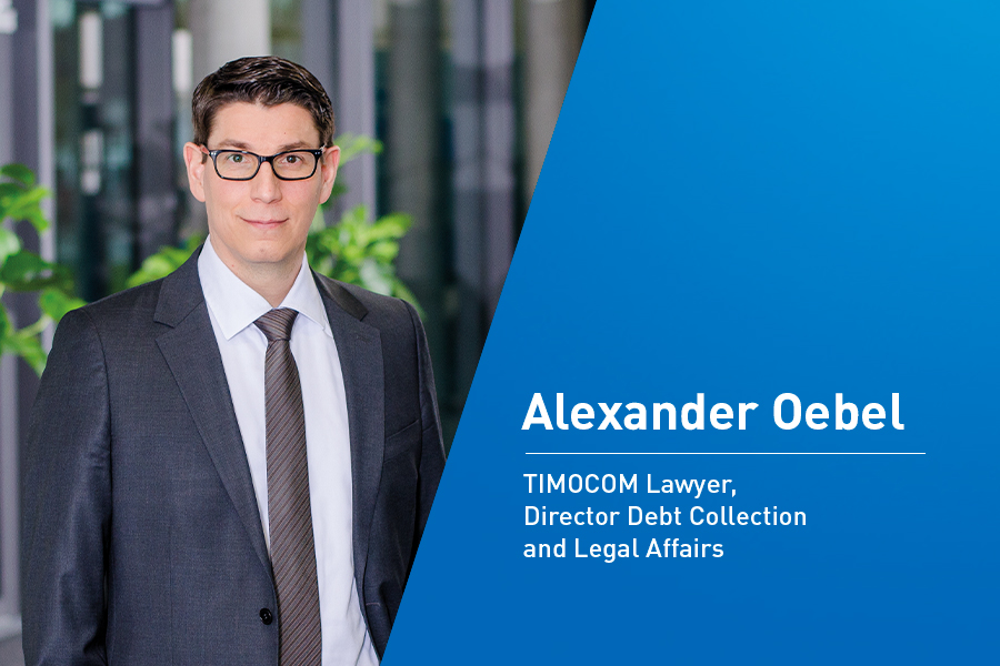 Interview Alexander Oebel, TIMOCOM Lawyer, Director Debt Collection & Legal Affairs